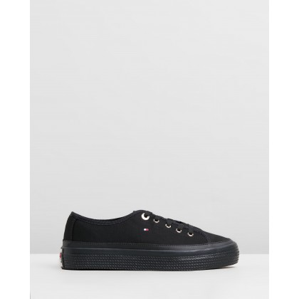 Corporate Flatform Sneakers - Women's Black by Tommy Hilfiger