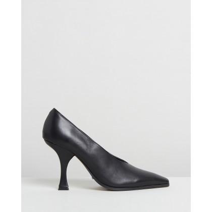Karis Heels Black Como by Tony Bianco