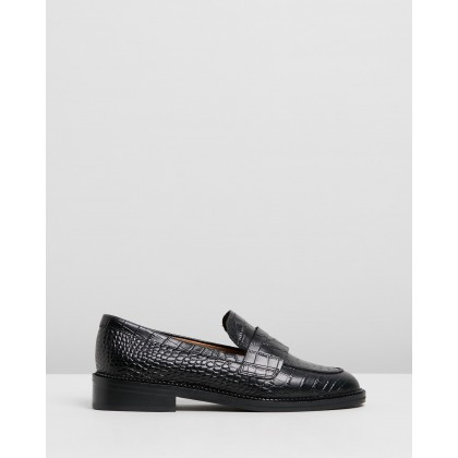 Lamar Black Croc by Tony Bianco