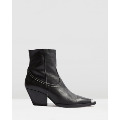 Mario Western Boots Black by Topshop