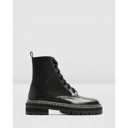 Ashton Chain Boots Black by Topshop