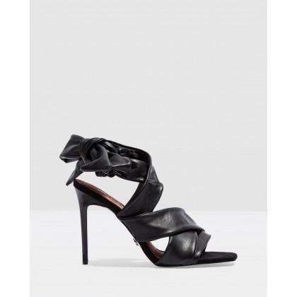 Roka Wrap Tie Sandals Black by Topshop