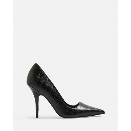 Game Elongated Stilettos Black by Topshop