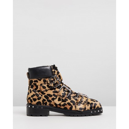 Animal Hiker Boots Leopard by Topshop
