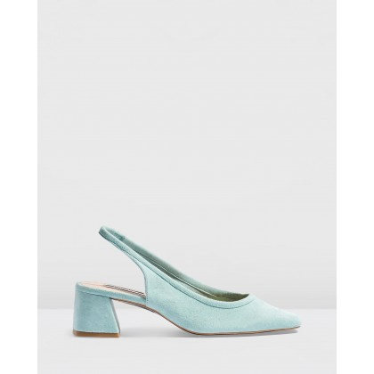 Jelly Slingback Heels Mint by Topshop