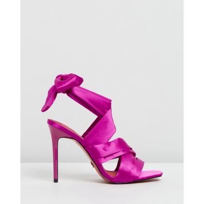 Roka Wrap Tie Sandals Pink by Topshop
