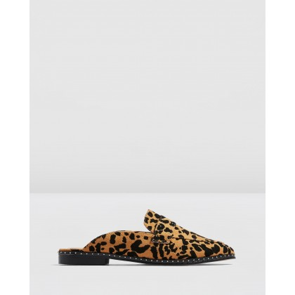 Lara Studded Mules Leopard by Topshop