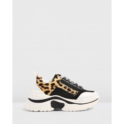 Celina Chunky Trainers Leopard by Topshop