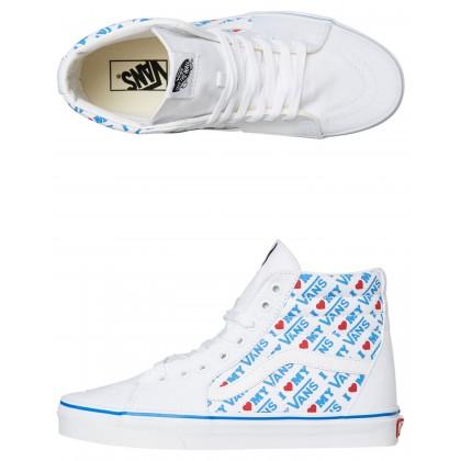 Womens Sk8 Hi Shoe True White Print