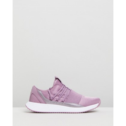 Breathe Lace X NM - Women's Purple Prime & White by Under Armour