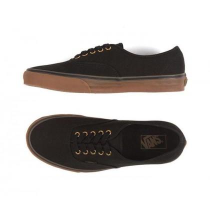 Black/Rubber - Authentic Black/Rubber Sale Shoes by Vans