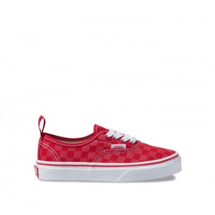 (Checkerboard) Tango Red - AUTHENTIC ELASTIC LACE Sale Shoes by Vans