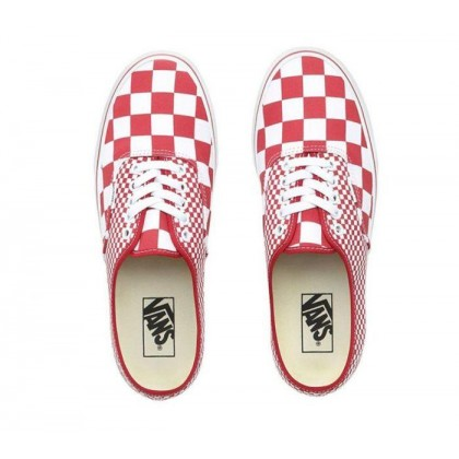 (Mix Checker) Chili Pepper/True White - Authentic Mix Checker Chilli Pepper/True White Sale Shoes by Vans