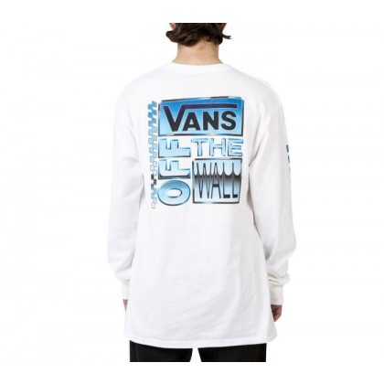 White - AVE CHROME LONG SLEEVE SHIRT WHITE Sale Shoes by Vans