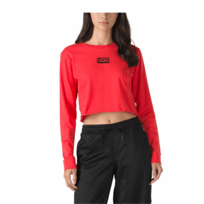 Poppy Red - Avenue Long Sleeve Red Crop Sale Shoes by Vans