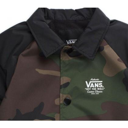 Oversized Woodland Camo-Black - Boys Torrey Oversized Camo Jacket Sale Shoes by Vans