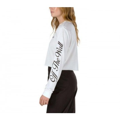 White - Brush Off White Long Sleeve Crop Sale Shoes by Vans