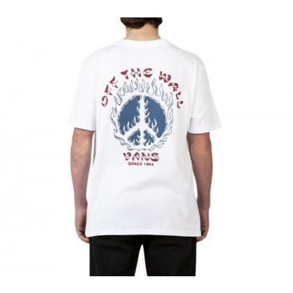 White - BURNT OUT SHORT SLEEVE TEE WHITE Sale Shoes by Vans