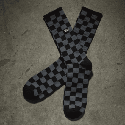 Black-Charcoal - CHECKBOARD CREW SPOCK II 6.5-9 1P BLACK Sale Shoes by Vans