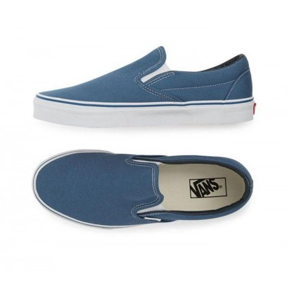 Navy White - Classic Slip On Sale Shoes by Vans
