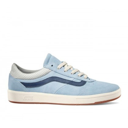 (Suede) Cool Blue/Dress Blues - Comfycush Cruze Cool Blue/White Sale Shoes by Vans