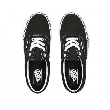 (Check Foxing) Black/True White - Era Check Foxing Black Sale Shoes by Vans