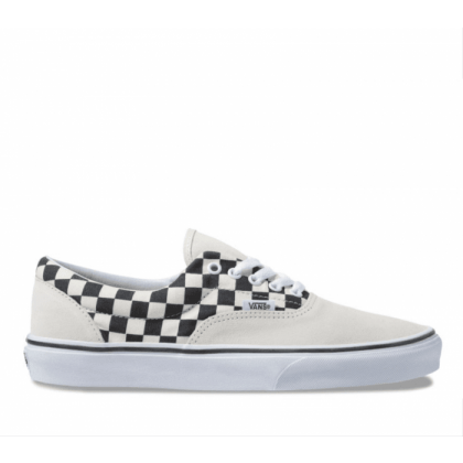 (Primary Check) Marshmallow/Black - Era Primary Check Marshmellow Sale Shoes by Vans