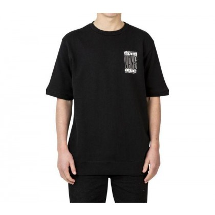 Black - HIGH TYPE SHORT SLEEVE CREW BLACK Sale Shoes by Vans