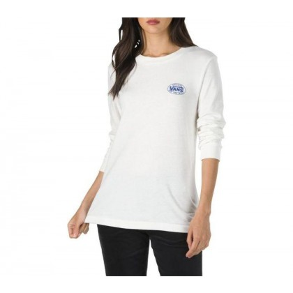 Marshmallow - Junction Long-Sleeve Boyfriend Tee Sale Shoes by Vans