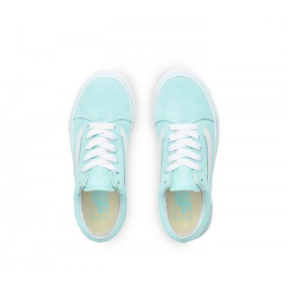 Blue Tint/True White - Kids Old Skool Blue Tint/True White Sale Shoes by Vans