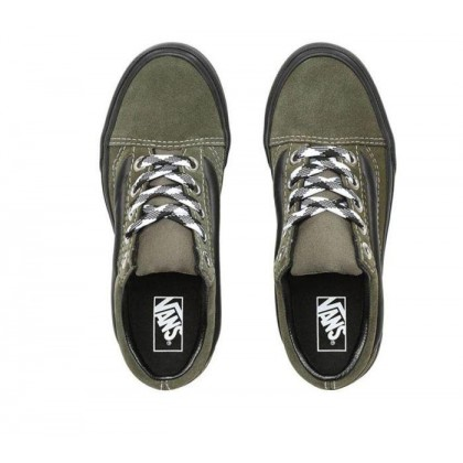 (90S Retro) Grape Leaf/Black - Old Skool 90s Retro Lug Platform Green Sale Shoes by Vans