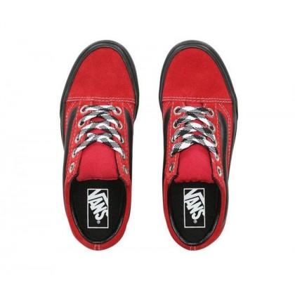 (90S Retro) Chili Pepper/Black - Old Skool 90s Retro Lug Platform Red Sale Shoes by Vans