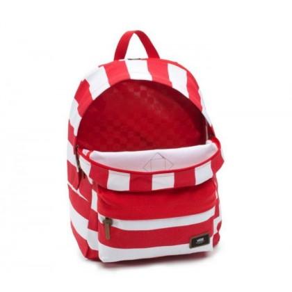 Racing Red Stripe - Old Skool Plus Red/White Stripe Backpack Sale Shoes by Vans