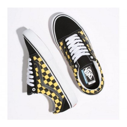 (Checker) Black/Aspen Gold - Old Skool Pro Checker Black/Aspen Gold Sale Shoes by Vans