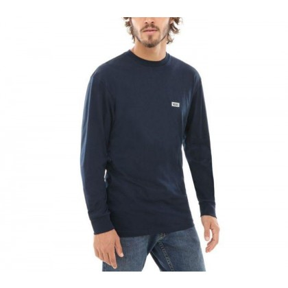 Navy - Retro Tall Type Navy Long Sleeve Tee Sale Shoes by Vans