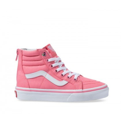 Pink - Sk8-Hi Kids Zip Heart Eyelet Strawberry Sale Shoes by Vans