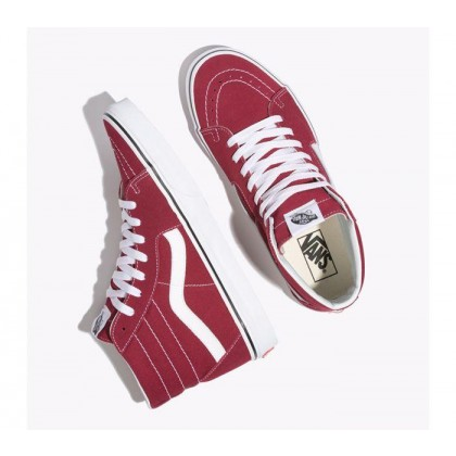 Rumba Red/True White - Sk8-Hi Rumba Red/White Sale Shoes by Vans