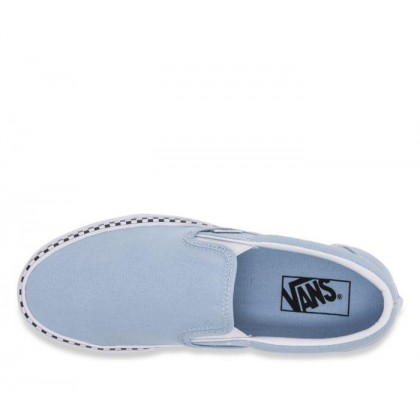 - Slip On Check Foxing Cool Blue/True White Sale Shoes by Vans