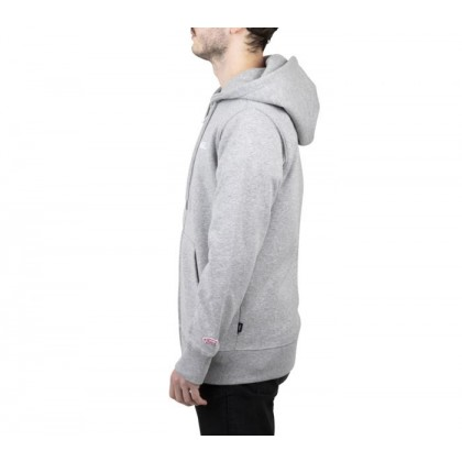 Concrete Heather - Small Logo Grey Zip-Up Hoodie 2 Sale Shoes by Vans
