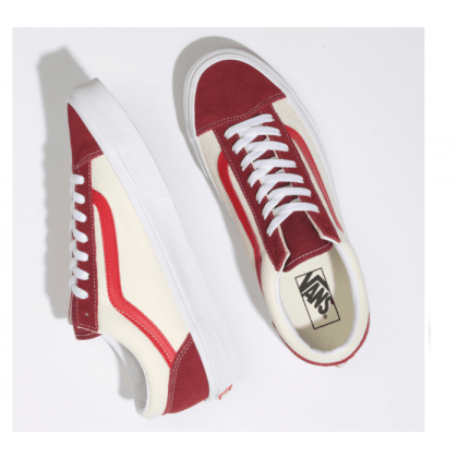 (Retro Sport) Biking Red/Poinsettia - STYLE 36 RETRO SPORT BIKING RED Sale Shoes by Vans