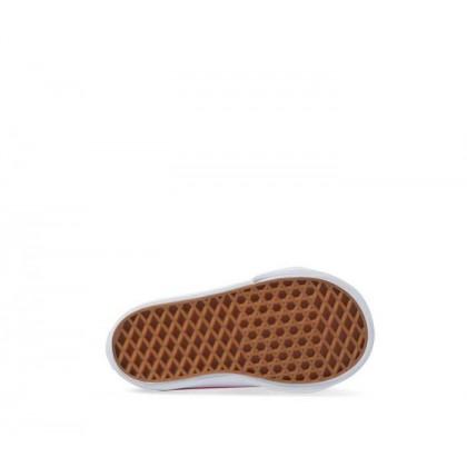 (Mermaid Scales) Carmine Rose/True White - Toddler Slip On V Rose/White Sale Shoes by Vans