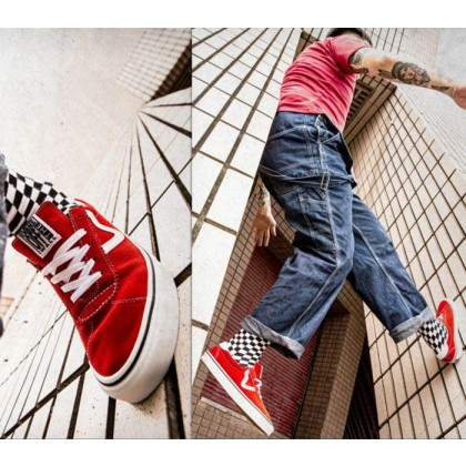 (Suede) Racing Red/True White - VANS SPORT RED Sale Shoes by Vans