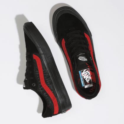 (Baker) Black/Black/Red - VANS X BAKER 112 PRO Sale Shoes by Vans