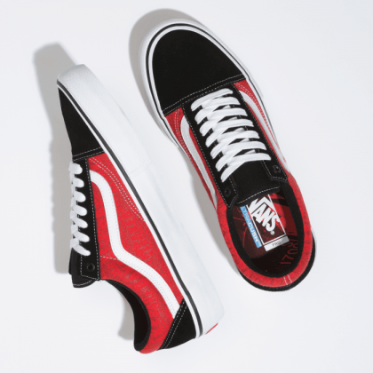 (Baker) Black/White/Red - VANS X BAKER OLD SKOOL PRO Sale Shoes by Vans