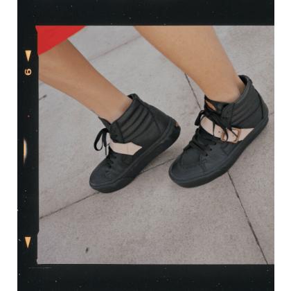 Black - Vans x Vivienne Westwood SK8-HI PLATFORM LEATHER Sale Shoes by Vans