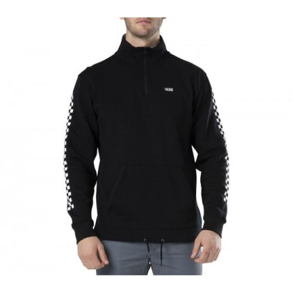 Black Checkerboard - Versa Quarter Zip Hoodie Black Sale Shoes by Vans