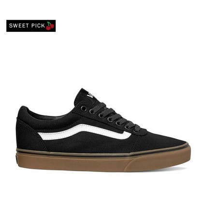 (Canvas) Black/Gum - WARD CANVAS BLACK GUM Sale Shoes by Vans