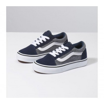 (Suede) Suiting/Dress Blues - YOUTH OLD SKOOL SUEDE GREY Sale Shoes by Vans