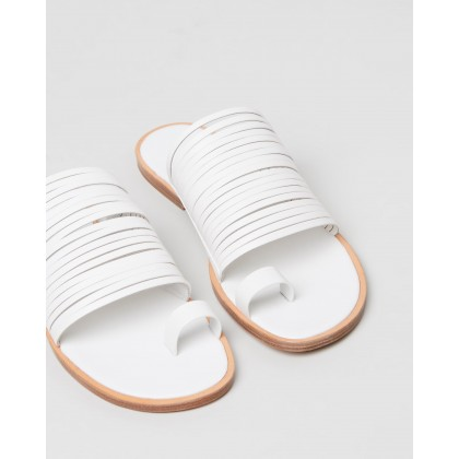 Penrose Leather Sandals Off White by Vince