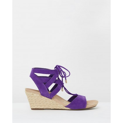 Tansy Wedge Espadrille Sandals Purple by Alan Pinkus